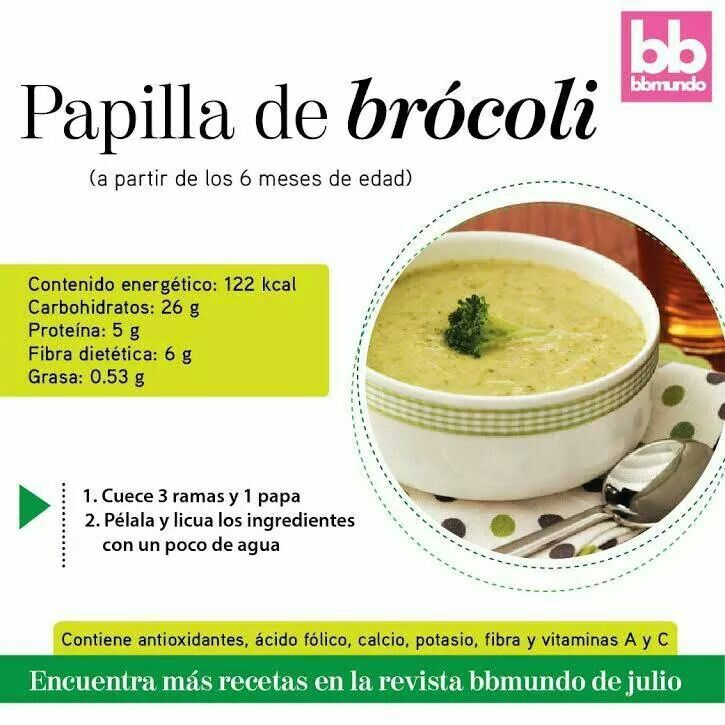 Sopa de brocoli cocina sofi pinterest - Papillas para bebes de 6 meses ...