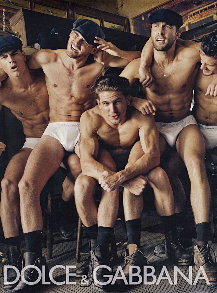 Steven Klein for Dolce & Gabbana (D) F/W 2010. Featuring Adam Senn, Arthur Kulkov, Evandro Soldati, Noah Mills, and Sam Webb. Mary Howard - Set Designer.