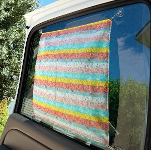 With the days of hot sunshine fast-approaching, now is the perfect time to start sewing up some easy sewing projects for the summer. This DIY Car Sun Shade is the perfect place to start.