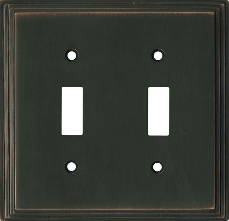 Art Deco Step Oil Rubbed Bronze Switch Plates Image