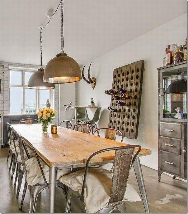 case e interni - loft - stile scandinavo - industriale (2)