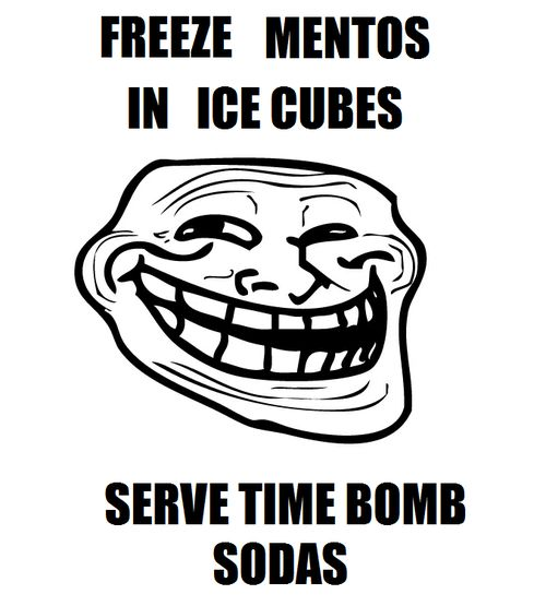 Time Bombs, Memes, Ice Cubes, Troll Face, Trollface, April Fools Day, Funny Stuff, Things, Awesome Prank
