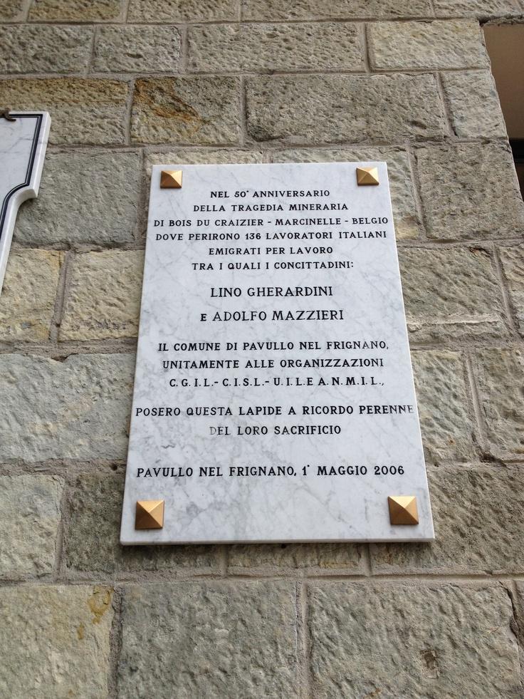 50° anniversario della tragedia mineraria di Bois Du Craizier - Municipio, Pavullo nel Frignano (MO)