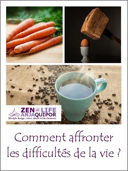 Une flopée de carottes, un œuf et une poignée de grains de café affrontent les difficultés de la vie...
