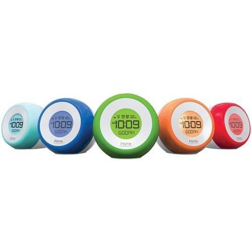 iHome(R) IM29SC Color-Changing Dual Alarm FM Clock Radio with USB Charging R810-IHMIM29SC