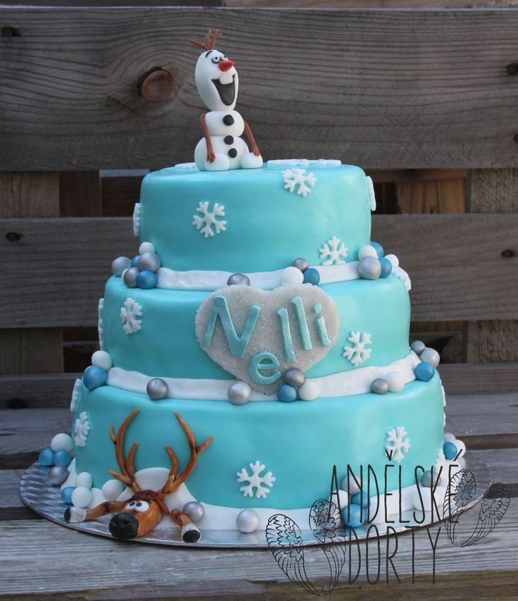 Frozen Cake - Dort Ledové království