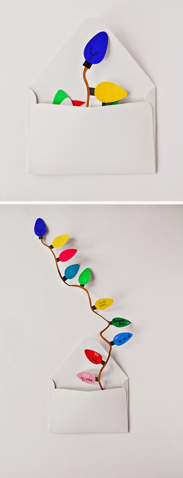 Lights invitation - how cute is this?