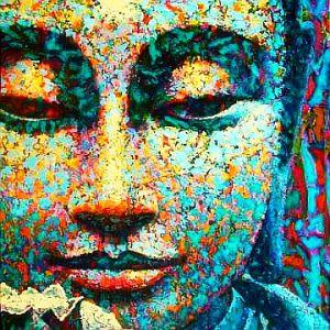 buddha paintings by Virginia Peck