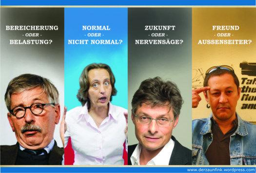 Thilo Sarrazin, Beatrix von Storch, Matthias Matussek, Akif Pirincci