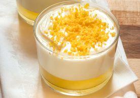 Panna cotta e gelo al limone - Piattoforte