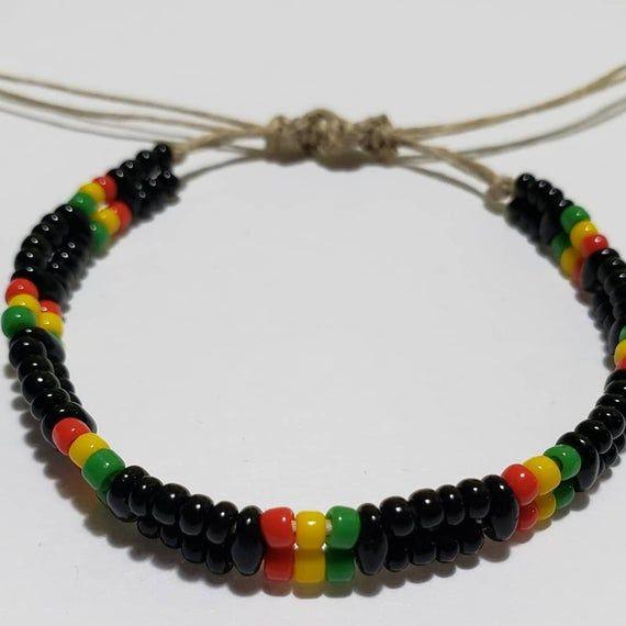 alphabet beads bracelet. macrame bracelet name bracelet bracelet Jamaican bracelet Rasta bracelet custom bracelet