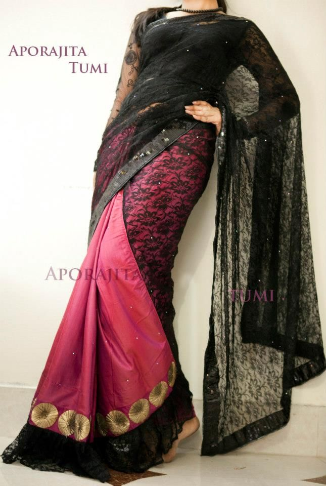 its made by me :) its my own creation  arong silk with net combo  follow this link for more  https://www.facebook.com/atfashionhouse
