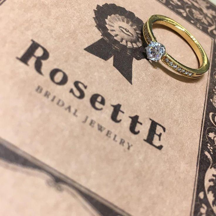 RosettE 〜木立ち〜 サイドのメレダイヤとたくさんのミル打ちが二人の新たな人生を祝福するよう華やかに輝き、クラシカルな仕上がりのエンゲージリングです。 #garden梅田#garden#梅田#RosettE結婚指輪大阪#婚約指輪#エンゲージリング#サプライズ#プロポーズ#結婚式#結婚式準備#プレ花嫁#2018春婚#2018夏婚