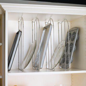 Kitchen Cabinet Organizers | ... Shelf Tray Divider with Clip - Kitchen Cabinet Organizers at Hayneedle