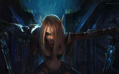 blondes women video games world of warcraft blood elf weapons fantasy art artwork long ears games ch_www.paperhi.com_12.jpg (400×250)