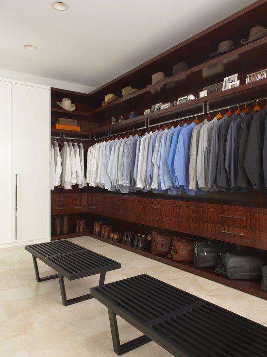 The living space closet his modern closet los for Closet design los angeles