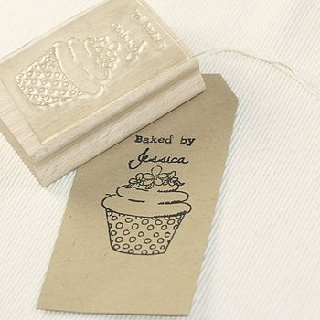 Personalised Stamp 'Baked By…'