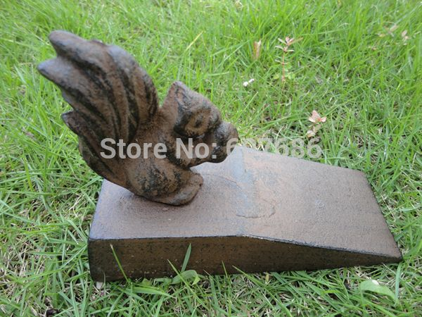 Item: Cast Iron Door Stop Material: Cast Iron Size: About 15.5(L
