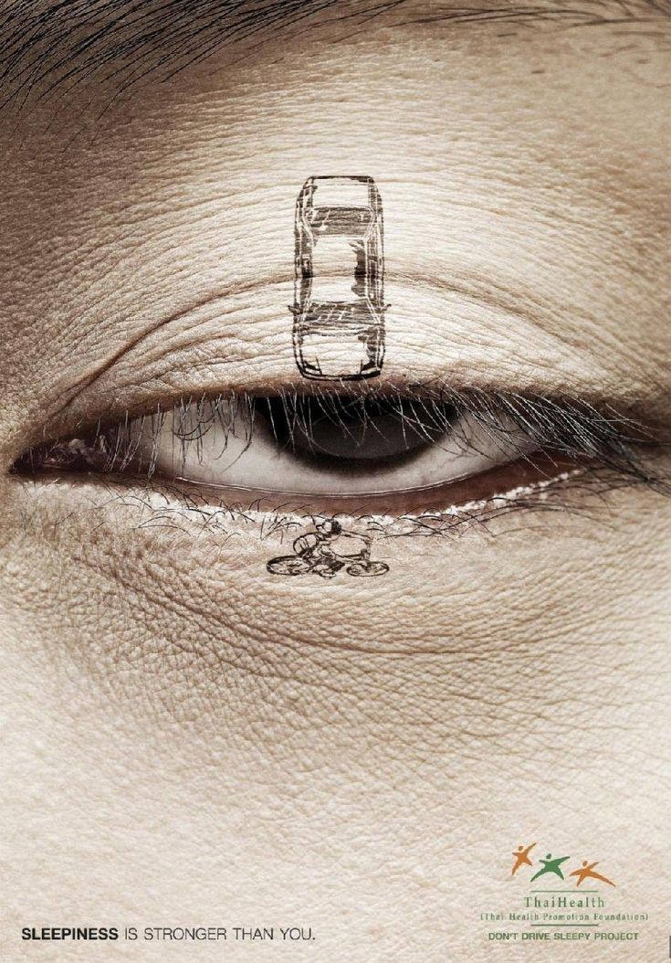 ...: Creative Noticed, Bangkok Thailand, Advertising, Graphics, Posters, Prints Ads, Driving Sleepy, Design, Eye
