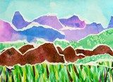 Artsonia Art Exhibit :: Grade 5 Watercolor Landscape Collage