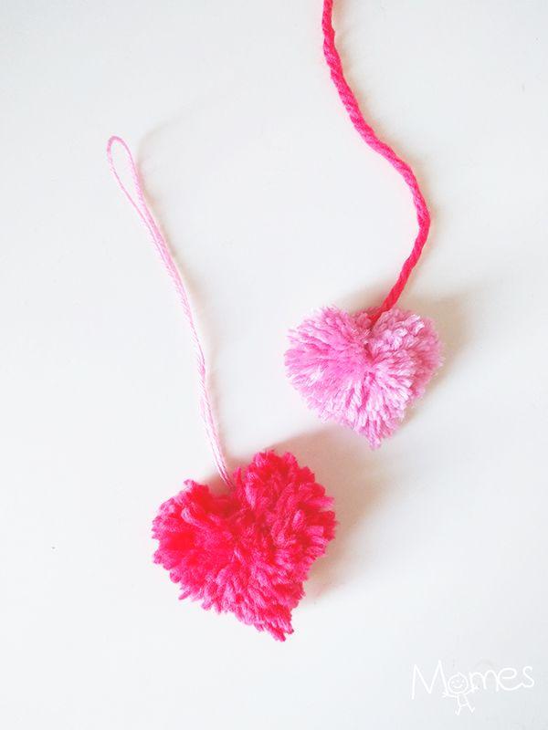 Délicieux Des Photos De Coeur #10: Faire Des Pompons En Forme De Coeur