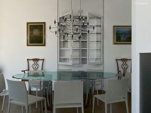Sala da pranzo - sospensione 2097/30 di Gino Sarfatti - Flos.