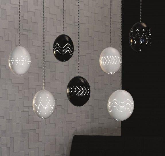 DIY Ostrich (?) egg lamps. (German site!)