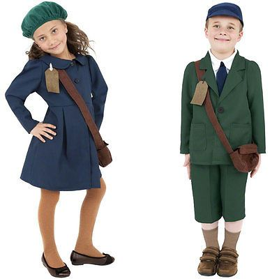 Kids #world war evacuee girl / boy fancy #dress costume #childrens book week outf,  View more on the LINK: http://www.zeppy.io/product/gb/2/110959933089/