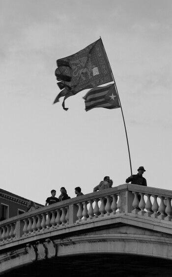 Flag bearer....Venice