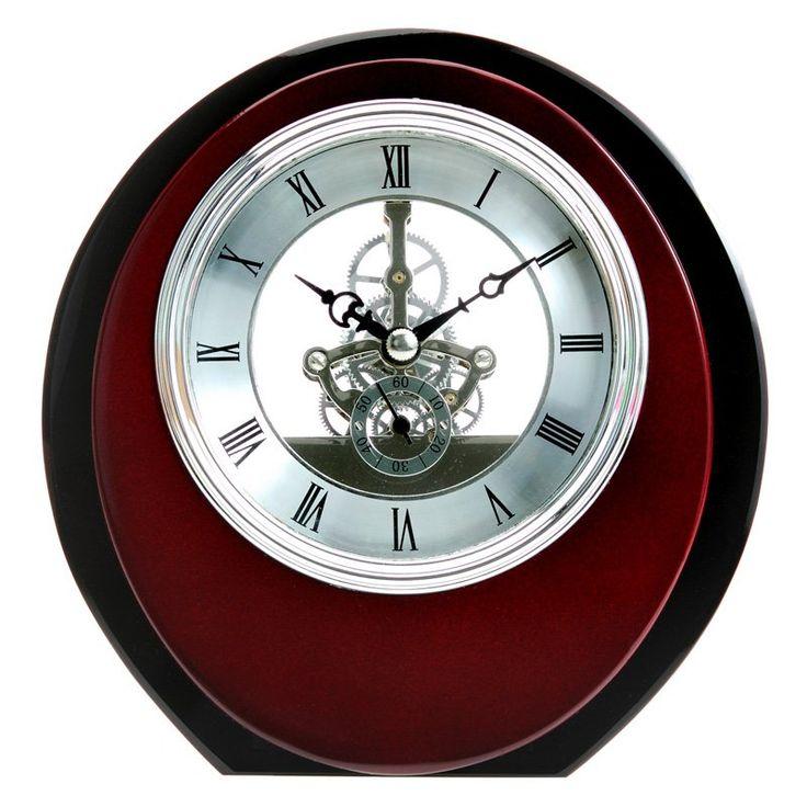Maples Sales Skeleton Wooden Table Clock - Brown - Mantel Clocks at Hayneedle