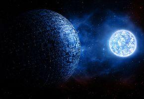 Обои вселенная, галактика, звезды, Космос, планеты, графика