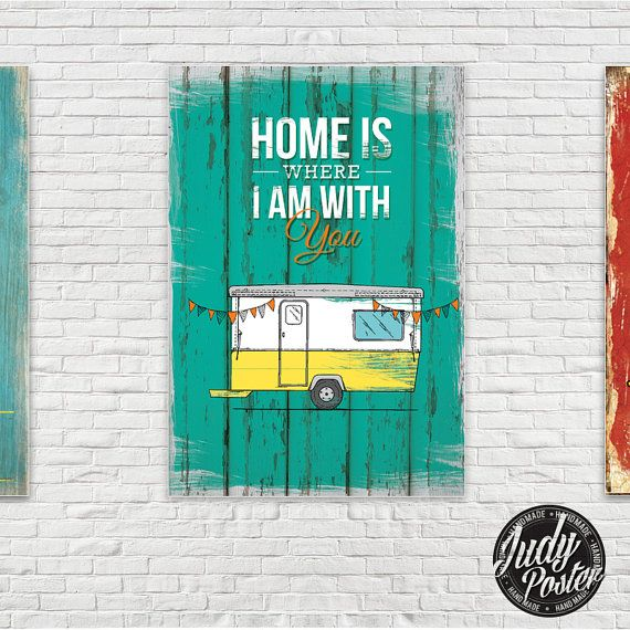 Home is Where I am with you wall Decor poster by Judydesignstore