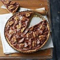 Taart met chocolade, walnoten en honing, superlekker! Gewoon leuker