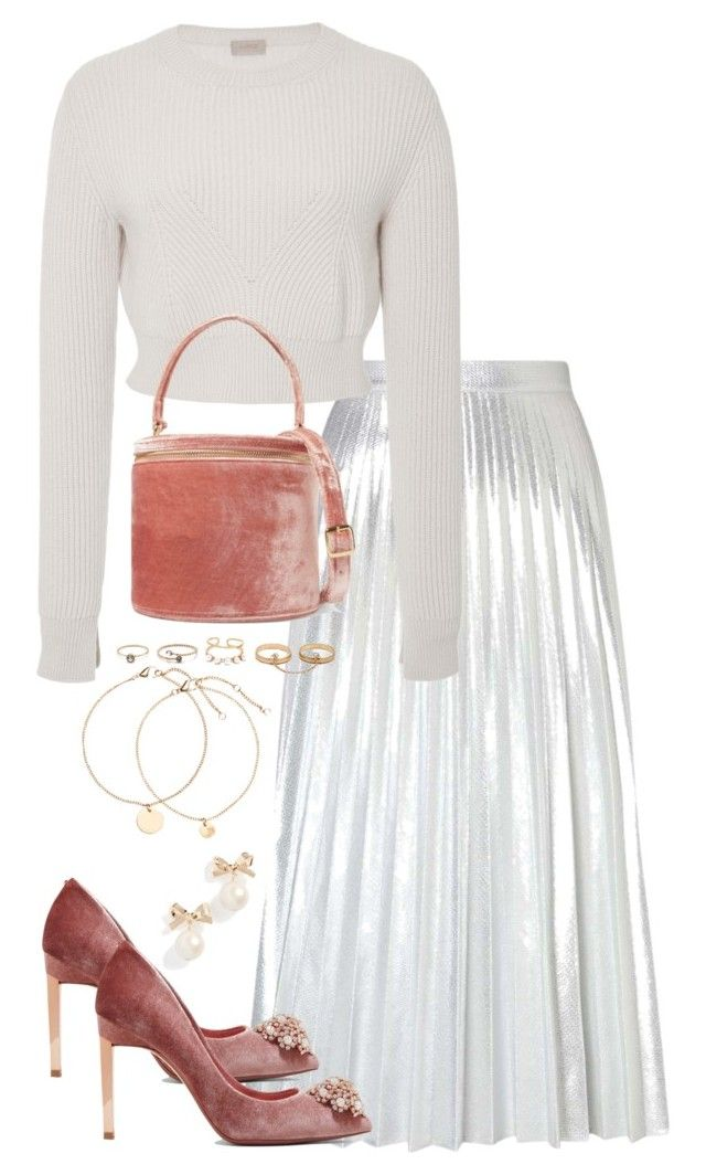 """""""Untitled #5143"""" by theeuropeancloset ❤ liked on Polyvore featuring Miss Selfridge, Ted Baker, Alix, Staud, LULUS and Kate Spade"""