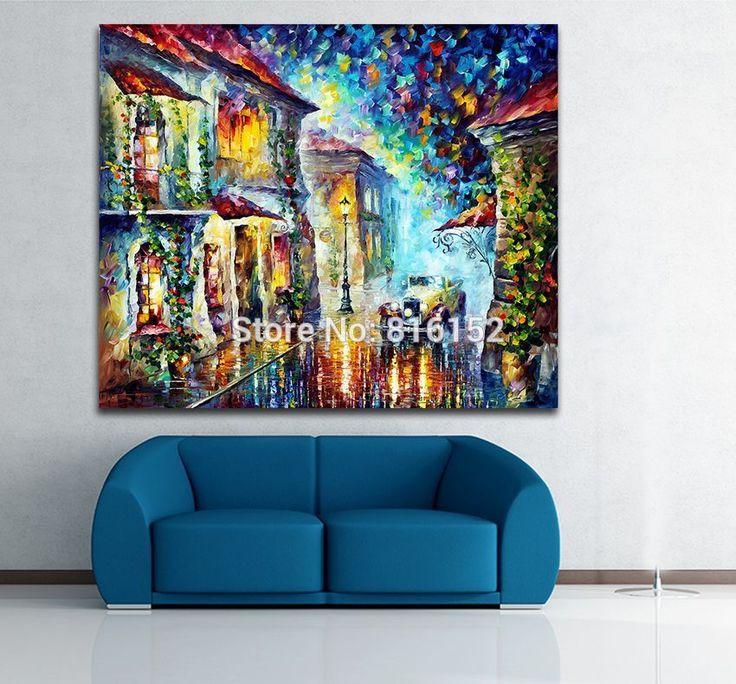 Греческая Ночь-Мастихином Живопись Напечатаны на Холсте для Гостиной Спальня Стены Искусства Декора