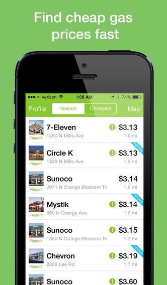 Fuelzee : Find Cheap Gas Prices and Fuel Rewards (via AppCrawlr)