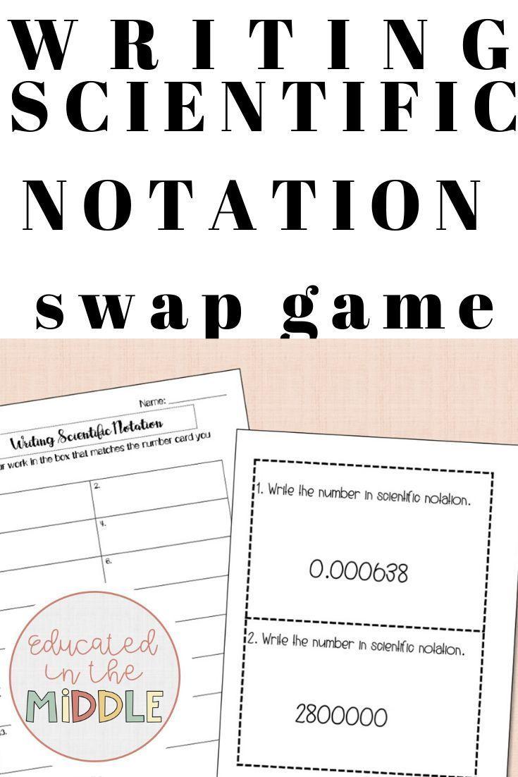 Scientific Notation Activity Swap Game Scientific Notation Activities Scientific Notation Notations [ 1102 x 735 Pixel ]