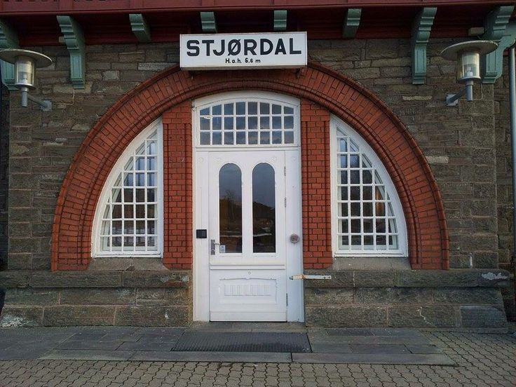 Stjørdal train station entrance, 1902
