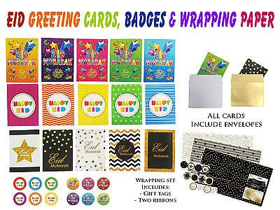 #Happy eid mubarak greeting #cards  gift wrapping paper wrap card badges #designe,  View more on the LINK: 	http://www.zeppy.io/product/gb/2/152138596020/
