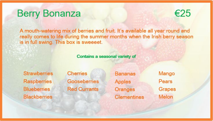 Berry Bonanza Description