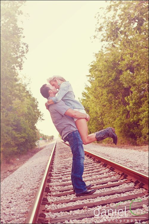 Some engagement photos taken on/by a train track would be cute for our Harry Potter theme.