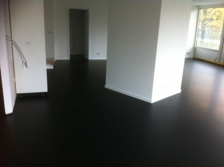 Black Resin Floor Garage Floor Pinterest Floors