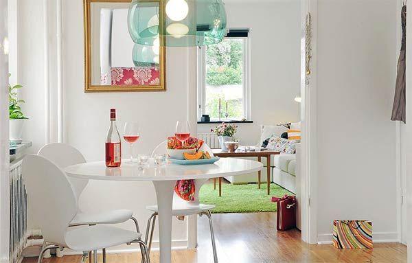 white sweedish inspiration Beautiful and Practical Tiny Apartment Interior Design
