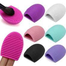 New Pop Brushegg Make up Escova de Lavagem de Limpeza Luva de Silicone Scrubber Ferramentas Cosméticos Foundation Pó Limpo Escova Ovo alishoppbrasil