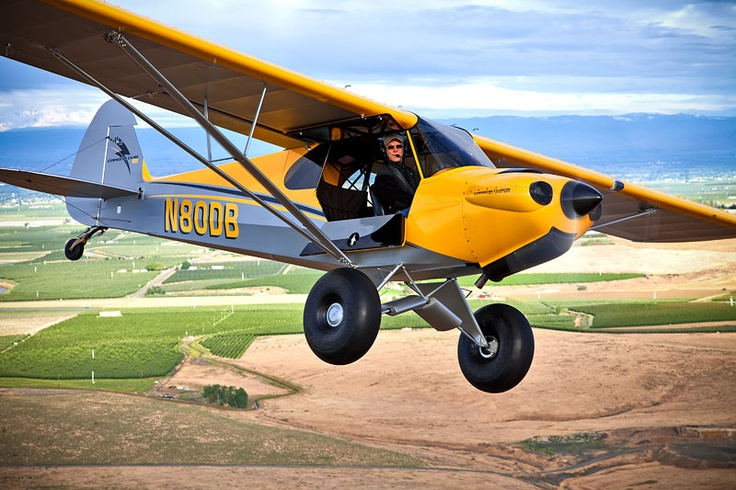 Carbon Cub SS is an ASTM certified light-sport aircraft based on the Piper Cub. It is modernized, with light-weight carbon fiber components and a 180 hp engine.