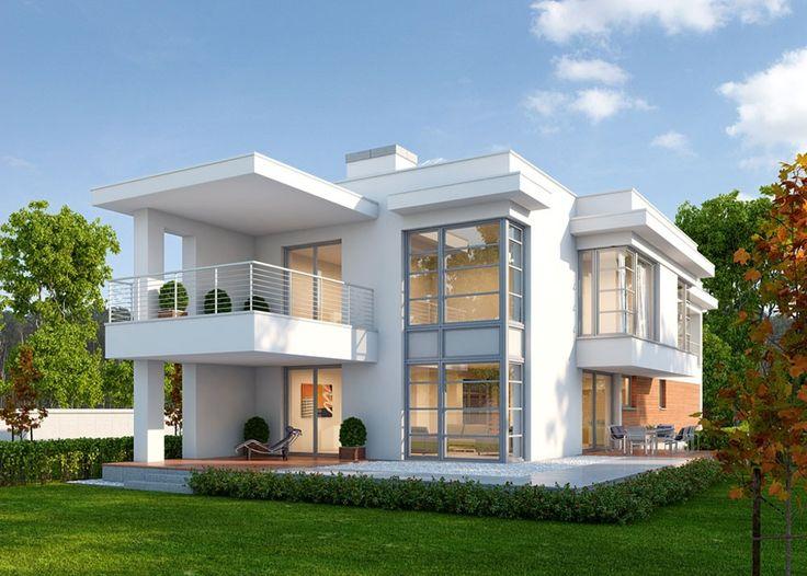 Duża ilość przeszkleń nadaje harmonijny wygląd domu