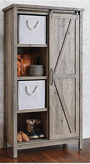 Better Homes And Gardens Storage Cabinet Rustic Gray Finish Farmhouse Storage Cabinets