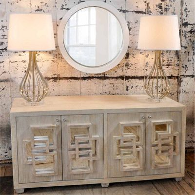 Worlds Away Crosby Limed Oak Media Console.  $1758  #Layla Grayce, #living room