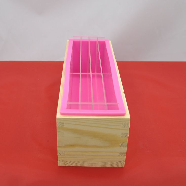 3in1 Rectangle Silicone Soap Mold Wooden Box Acrylic Rendering Separator 1200ML #Unbranded