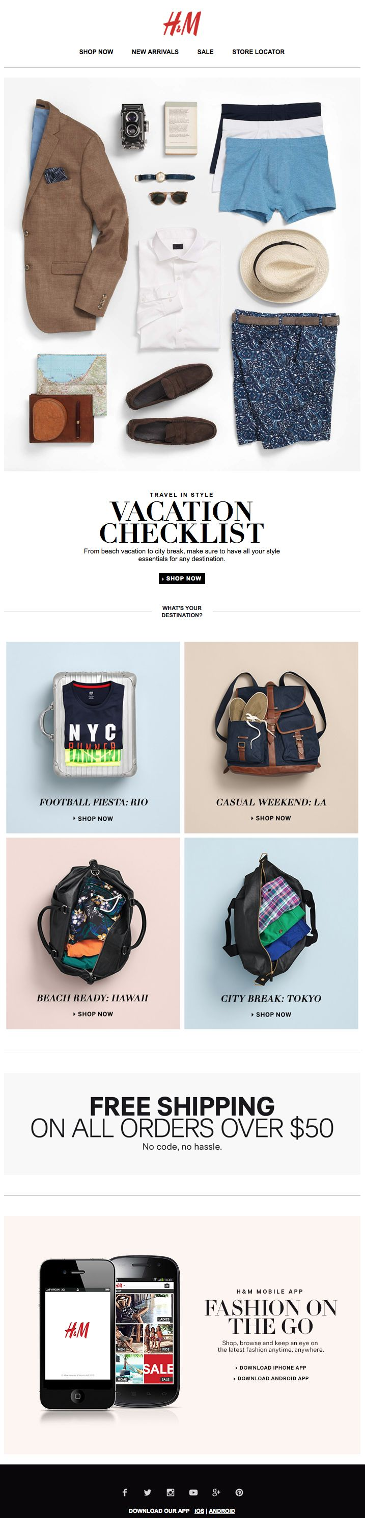 """""""H&M : Packing List + Destination"""" interesting concept and layout"""